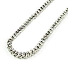 2.2MM 10K Real SOLID White Gold Diamond Cut Franco Chain Necklace -16-22... - $636.12+