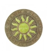 Solar Garden Stepping Stone, Lighted Sun Ornament, Decorative Pathway Ma... - $26.43
