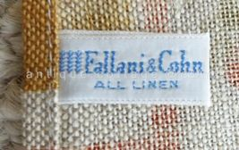 LOT vintage NOS 2p LINEN KITCHEN TOWELS unused LEACOCK and FALLINI & COHN image 4