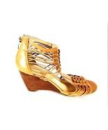 Enzio Angiolini Beige Gladiator Wedge Heels Open Toe Sandals Women's 8 M... - $67.99