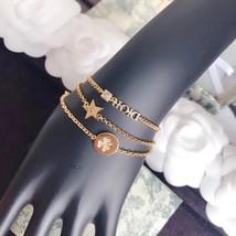 Auth Christian Dior SET DIO(R)EVOLUTION J'ADIOR TRIPLE CRYSTAL GOLD BRACELET image 8