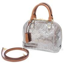 LOUIS VUITTON Alma BB Monogram Argent Vernis 2Way Handbag Authentic 4877554 - $1,584.88