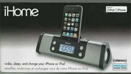 iHome iP16 Portable Speaker Sys iPod/iPhone Dock/Charge Station & Alarm ... - $36.74 CAD