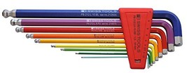 PB Swiss Tools PB 212LH-10 RB Ballend hex set long rainbow - $92.26