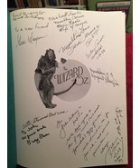 THE WIZARD OF OZ Official 50th Anniversary Pict. Hist. Munchkin Signed; ... - $2,450.00