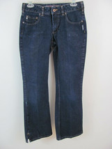 Silver Jeans Women's Size 28 (28 x 29 Measured) Bootcut Dark Wash Slit L... - $9.99