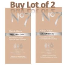 No7 Cool Vanilla Match Made Custom Blend Foundation Drops 15ml Lot of 2 ... - $14.50