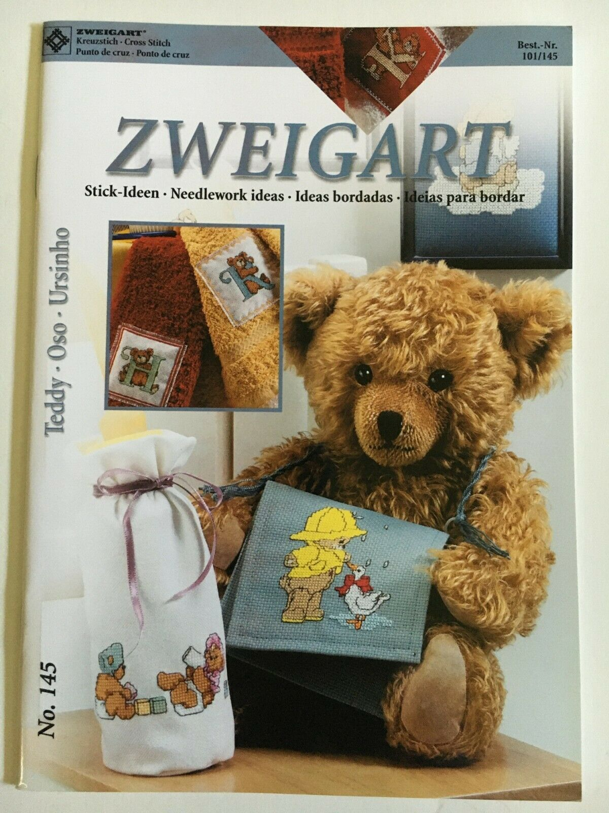 Primary image for Zweigart Needlework Ideas Booklet 145 Cross Stitch Teddy Bears Alphabet Kids