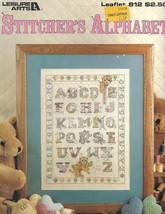Stitcher's Alphabet Leisure Arts 812 Teddy Bears with ABCs 1989 - $1.77