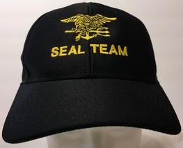 Eagle Crest Seal Team Black Snapback Hat Military Special Forces Navy US... - $33.65