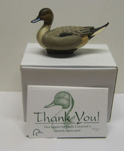 Ducks Unlimited Jett Brunet Pintail  Mini Duck Decoy 2007 Signed Limited DU - $20.89