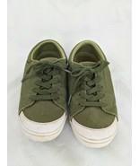 Mozo Shoe Crews Green Canvas Work Shoes Women's Size 6 M33758 - $19.76