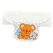 2 PCS Three Cute Bears Large Size Baby Cotton Sweat Absorbent Towels