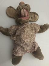 1981 Vintage Ganz Bros Wrinkles Puppy Hound Dog Girl Puppet Tan Stuffed Animal - $30.60