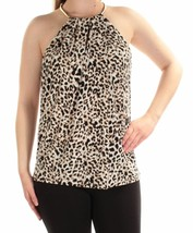 Calvin Klein Womens  Brown Animal Print Sleeveless Top M 4092-3 - $23.14