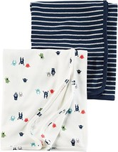 Carter's Baby Boys' 2-Pack Monster Swaddle Blanket One Size - $41.30