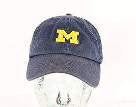Vintage 90s Nike Michigan Wolverines Small Swoosh Logo Cotton Dad Hat Ca... - $29.65