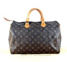 Auth Louis Vuitton Speedy 35 Monogram Canvas Leather Hand Bag Travel Bag... - $345.51