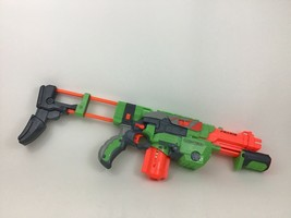 Praxis Vortex Nerf Disc Launching Blaster with Stock and Clip Hasbro 2010 - $26.68