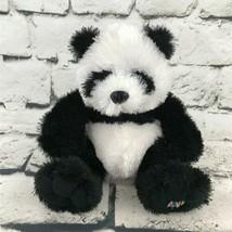 Ganz Webkinz Panda Bear Plush Black White Sitting Stuffed Animal Shaggy ... - $7.91