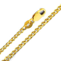 14k Yellow Gold 1.7-mm Flat Wheat Chain Necklace - $124.10+