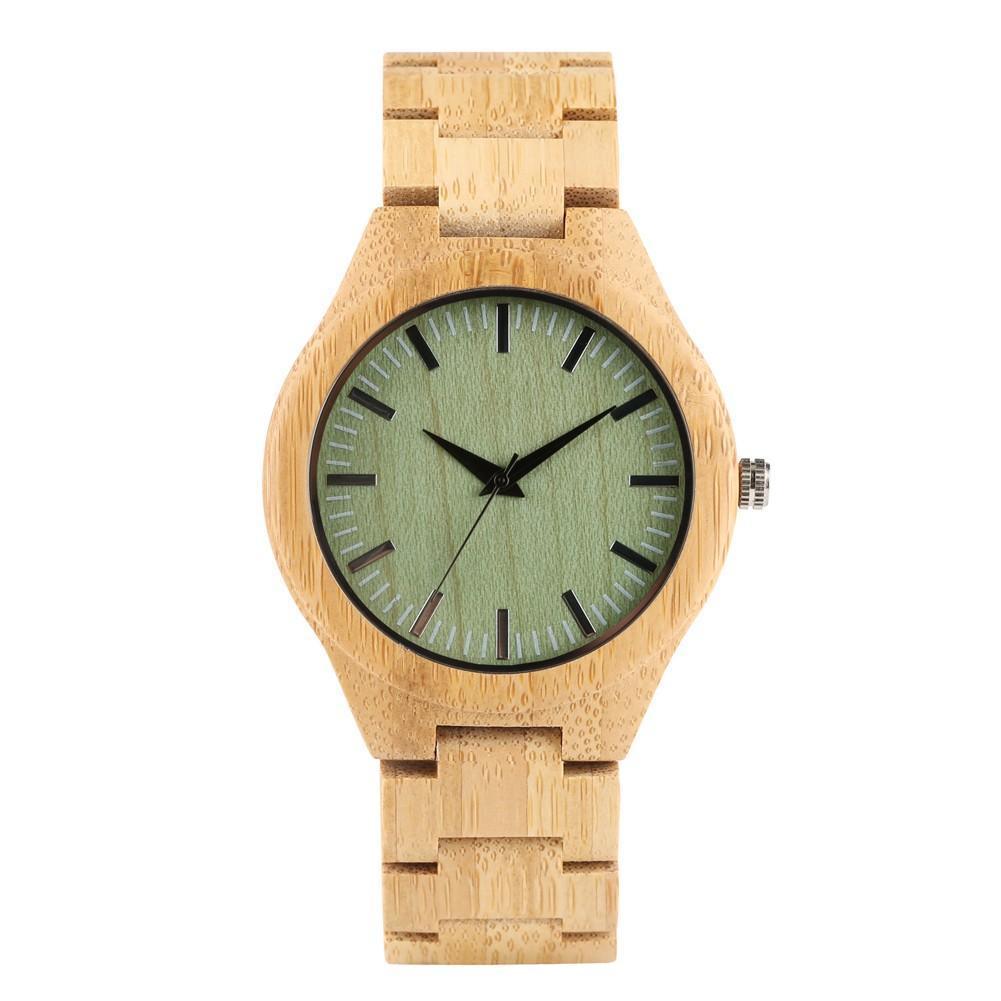 Vintage Men's Wooden Watch, Handmade Natural Wooden Wristwatch for Teenagers - $48.99