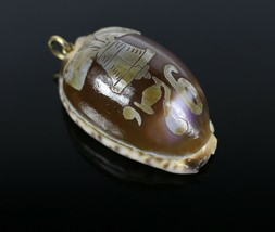 Vintage Tiger Leopard Cowrie 1775 Liberty Bell Necklace Pendant Costume ... - $16.93