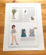 Betsy McCall Paper Doll, Uncut with Clothes, Betsy McCall and the baby r... - $5.94