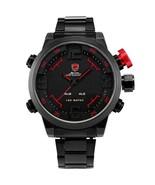 Shark Men Sport Wrist Watch LED Digital Quartz Date Alarm Black Stainles... - $46.95