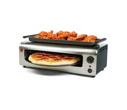 Electric Pizza Oven Stainless Pizzas Cooker Air Non Stick Pan Rotates Ba... - $79.99+