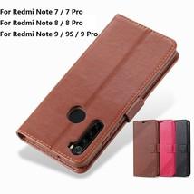 K6) Leather wallet FLIP MAGNETIC BACK cover Case for For Xiaomi Redmi model - $60.08