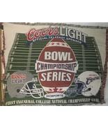 Inaugural BCS Football Championship Coors Light ABC Sports Woven Throw B... - $19.79