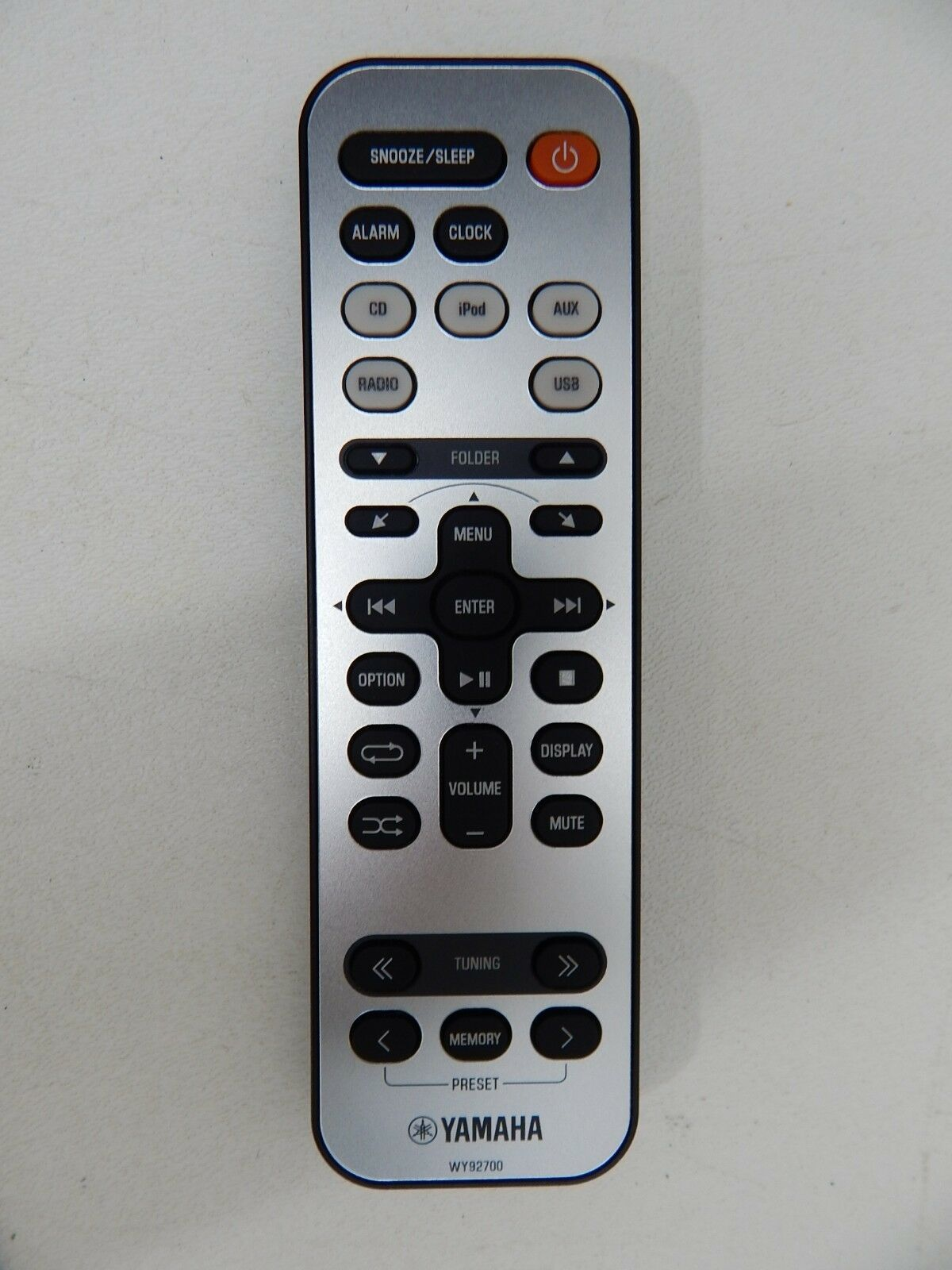 Yamaha WY92700 iPod Stereo Dock Remote Control for TSX-112, TSX-112ML (WY927000)