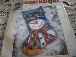 Dimensions Needlepooint Mr. Frost Stocking CHART ONLY 9128 - $3.00