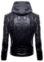 Batman Gotham Jacket Motorcycle Brando Biker Leather Bomber Detach Hoodie Jacket image 2