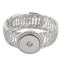 LOV*MOMENT Lovmoment Bracelet Single Button Wide Metal Snap Bracelet Bangle Snap - $20.99