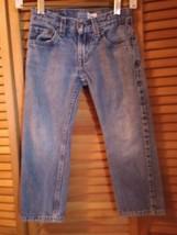 Blue Jeans size 4-5 boys waist 23 inseam 19 straight leg by Levi's cotton  - $12.95
