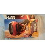 Star Wars The Force Awakens Rey's Speeder Jakku Action Figure NIB - $9.35
