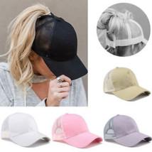 Ponytail Baseball Cap Women Messy Bun Baseball Hat Snapback Sun Sports C... - $18.99