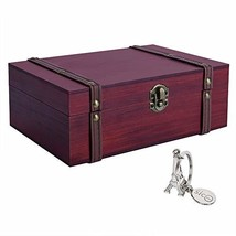 """SICOHOME Treasure Box, 9.0"""" Wooden Box for Trinkets,Taro Cards,Gifts and... - $17.53"""