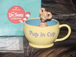 Hallmark Gallery Dr. Seuss PUP IN CUP Figurine Mint In Box First Edition - $59.39