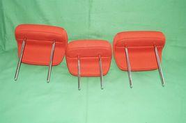 10-13 Kia Soul Rear Back Cloth 3 Headrests Headrest Set RED image 5
