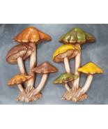 Vintage 70s Mushroom Toadstool Wall Home Decor Orange Green Yellow Shroo... - $113.83