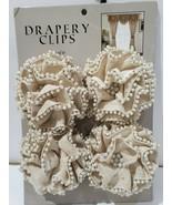 New Burlap Pearls Window Drapery Clips Tieback Holdback Tie Backs Home D... - $39.99