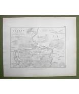 GERMANY Lutzen & Environs + Napoleon Battle of 1813 - 1848 Fine Quality Map - $12.82
