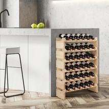 36 Bottles Stackable Wooden Wobble-Free Modular Wine Rack - £66.57 GBP