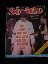 Sonido #11 Kiss Ramones Barry White Black Sabbath Alice Cooper James Bro... - $16.99