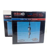 Grip 2 Ton Heavy Duty Rope Pulley Hoist Zinc Plated - $39.95