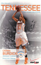 Cierra Burdick signed 2011-12 Tennessee Lady Vols 11x17 Poster #11 (Wome... - $21.95