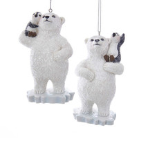 Polar Bear w/Penguin Ornament - $14.95